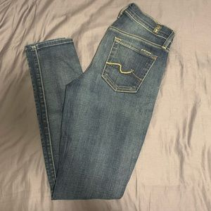 7 For All Man Kind Gwenevere skinny jeans 26